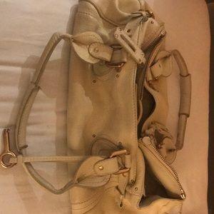 Chloe cream Paddington leather bag